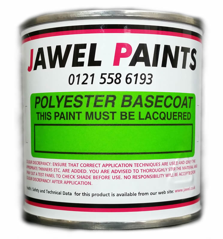 Polyester Basecoat Mixed Colour 1/4Litre